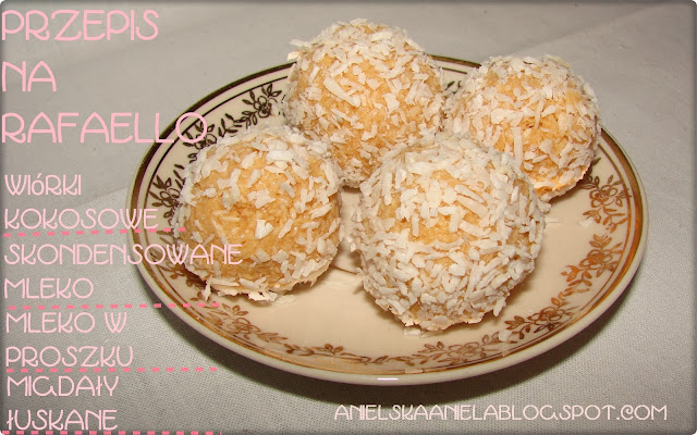 Przepis na domowej roboty kulki Rafaello / trufle kokosowe przepis