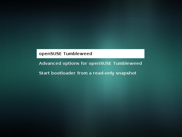 8thString: OpenSUSE Tumbleweed does not boot to GUI after