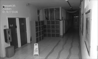 Secondary school CCTV camera captures terrifying 'ghost' causing havoc in corridors at night (VIDEO)