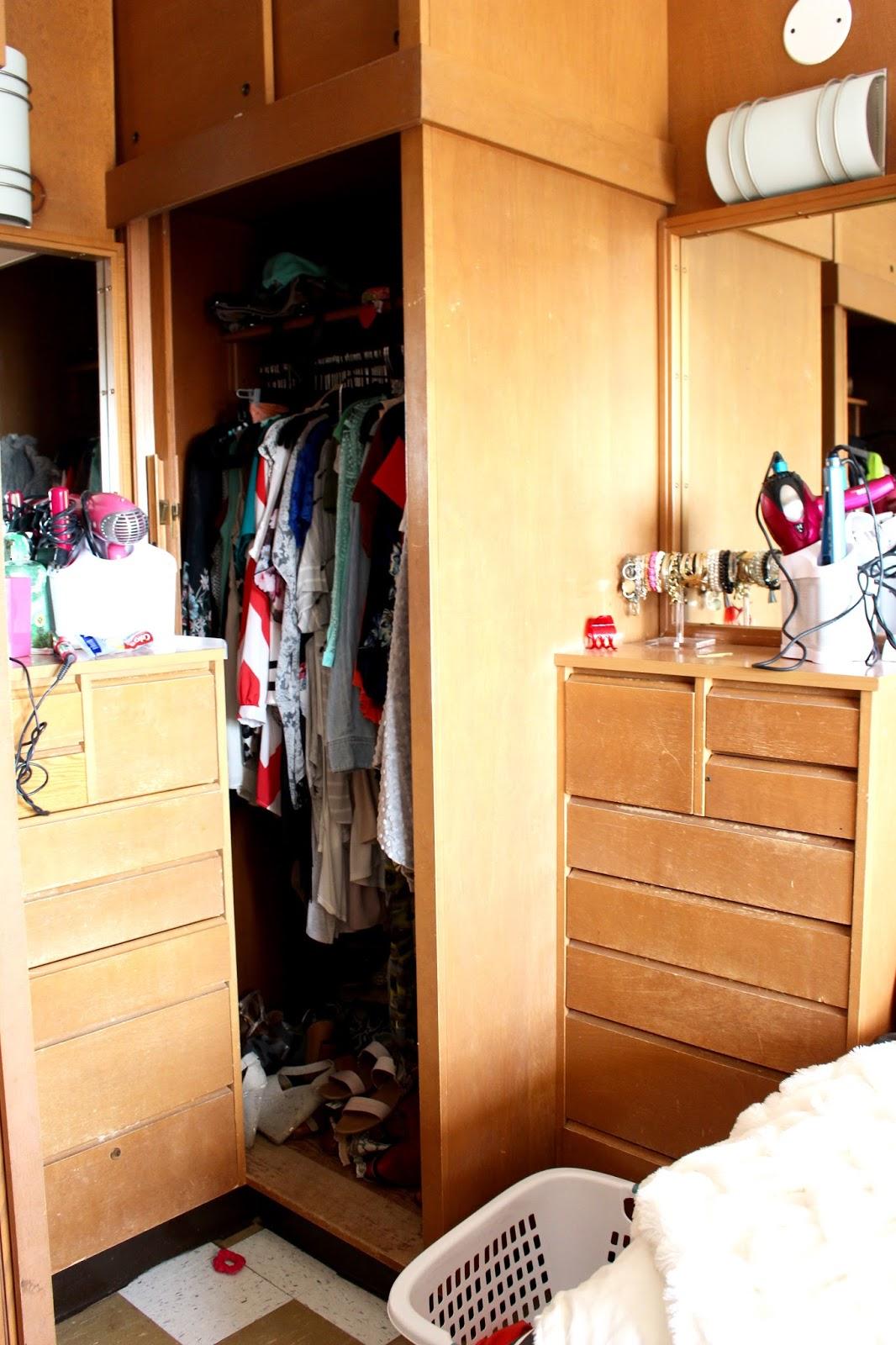 Dorm Room Closet: Dorm Room Tour: Texas Tech University