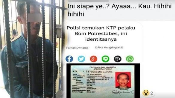 Edit Foto Jokowi dalam KTP Pelaku Bom Polrestabes, Pria Asal Belitung Timur Ditangkap