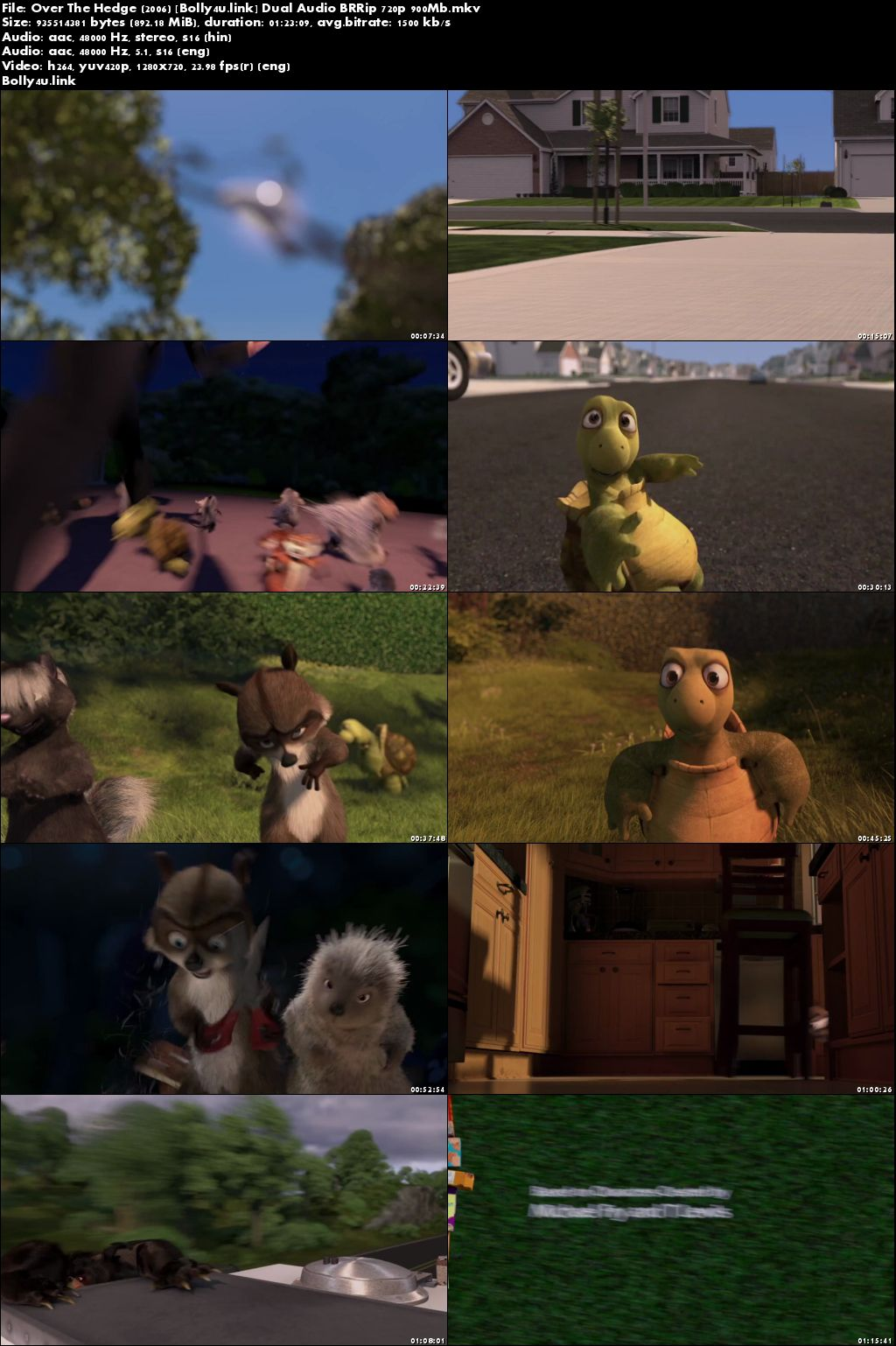 Over The Hedge 2006 BRRip 280Mb Hindi Dual Audio 480p Download
