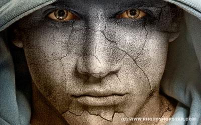 Наложение текстуры на лицо. Видеоурок