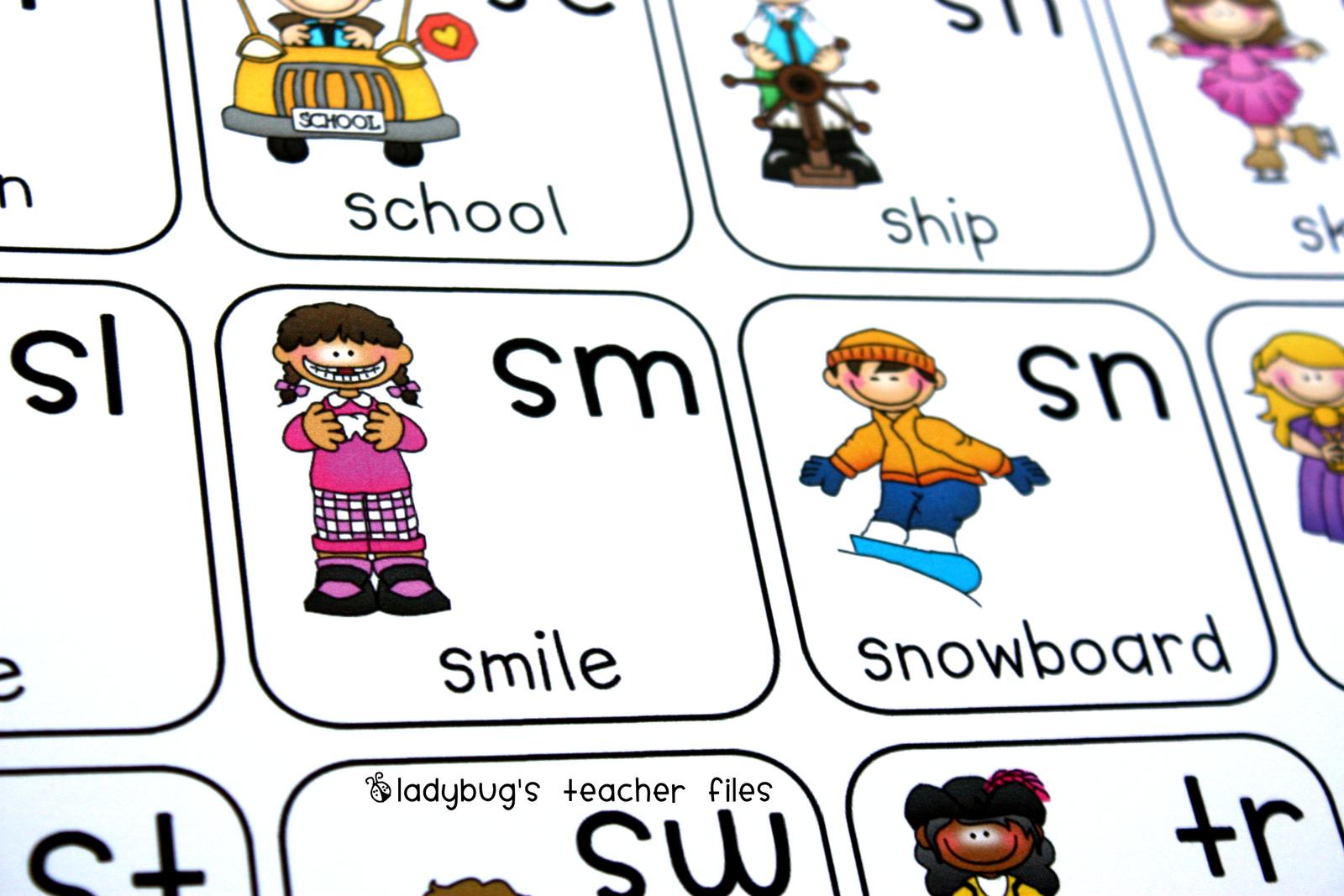 hight resolution of Consonant Blends Chart {printable}   Ladybug's Teacher Files