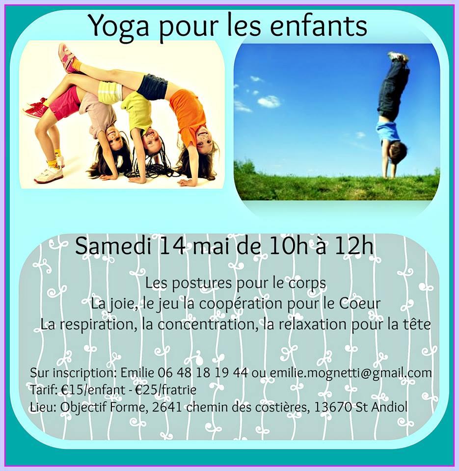 Yoga saint r my de provence eygali res alpilles yoga pour les enfants avec emilie - Mas de l amarine ...