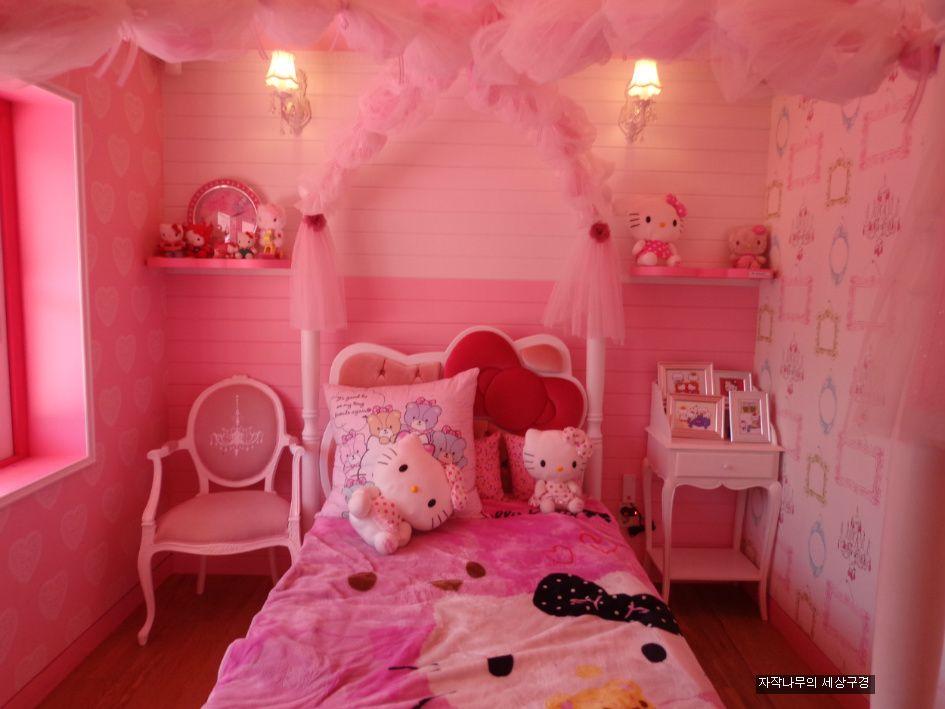 Fotos de camas con cabecero hello kitty ideas para - Decorar dormitorio nina ...