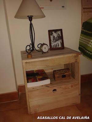 pallet wood nightstand
