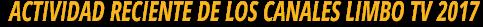 Actividad reciente de canales Tv por Internet