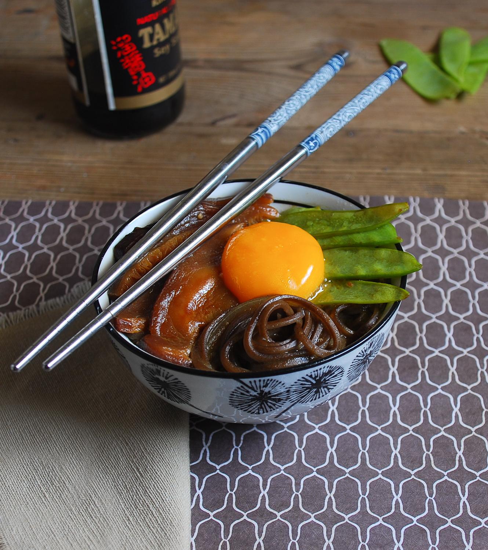 Sopa de miso con fideos soba y shiitake {sin gluten}