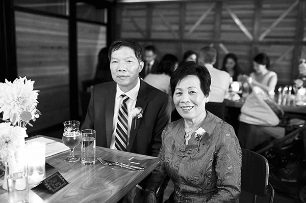 Bride's parents