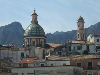 The distinctive dome of the Chiesa di San Giovanni  Battista in Vietri sul Mare
