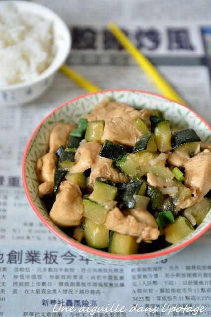 cuisine chinoise poulet courgette sauce hoisin