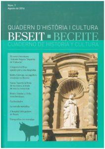 CUADERNO DE HISTORIA Y CULTURA, BECEITE Nº 7