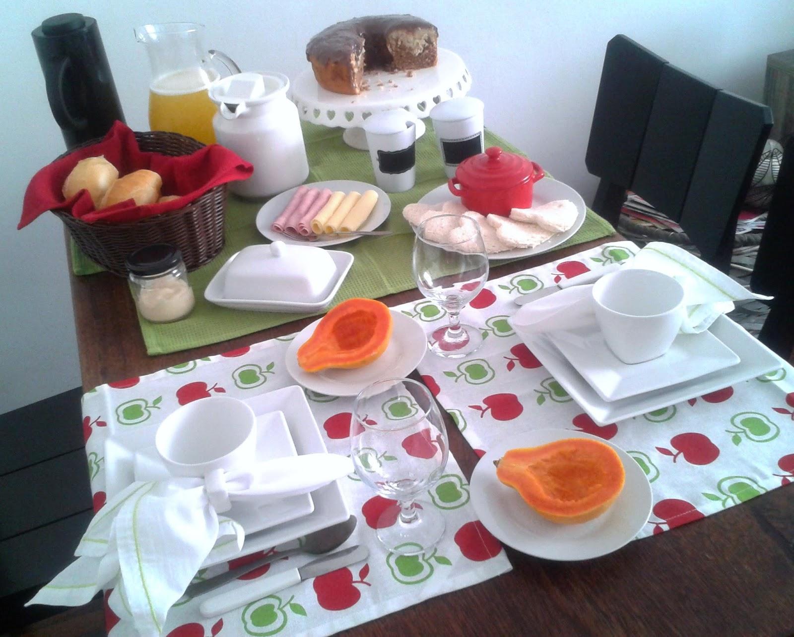 Mesa posta Caf da manh  Cozinhar cuidar e amar