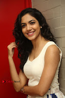 Actress Ritu Varma Stills in White Floral Short Dress at Kesava Movie Success Meet .COM 0112.JPG