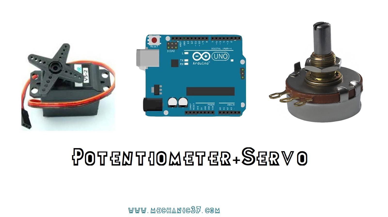 Control A Servo Motor Using Potentiometer