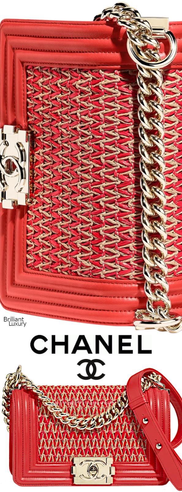 Brilliant Luxury♦Chanel Small Boy Handbag #red