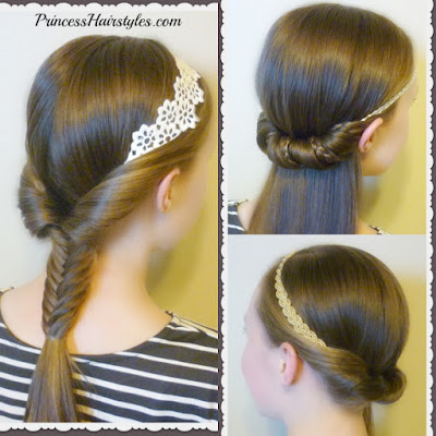 3 cute and easy headband hairstyles for school. Video tutorial.