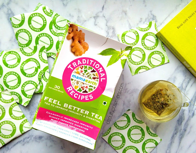 Mamaearth Feel Better Tea ( To Improve Immunity & Digestion ) Review..