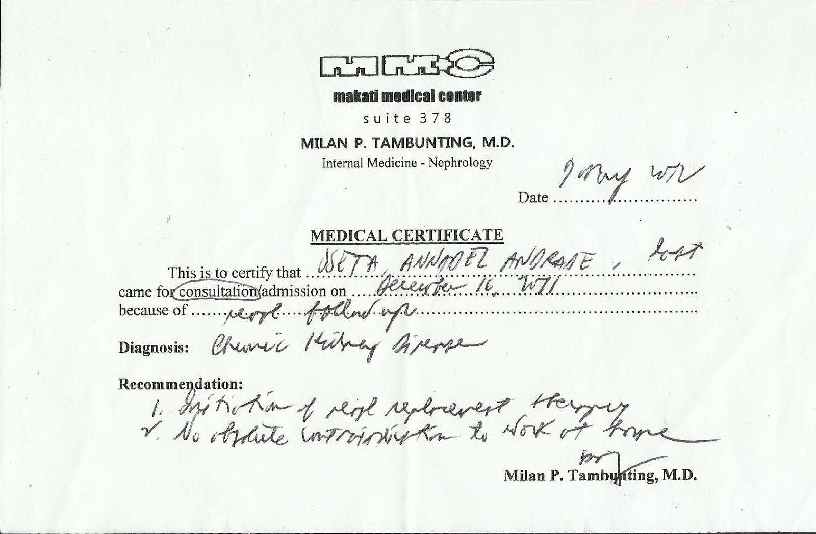 Fake Medical Certificate Philippines Kubreforic