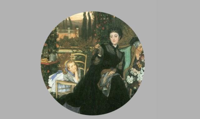 Frau mit schwarzen Kleid