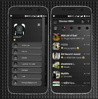 BBM Mod Black Shadow Based Official v3.0.1.25 Apk