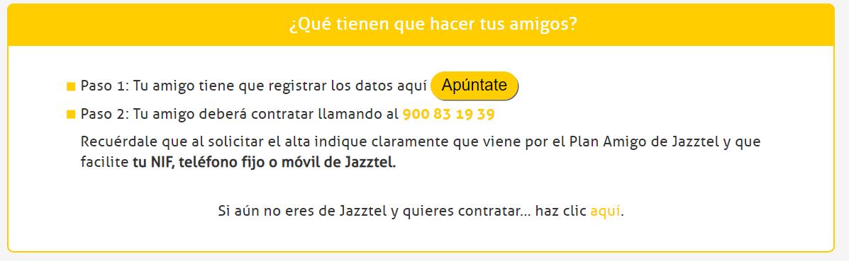 Plan Amigos Jazztel enlace