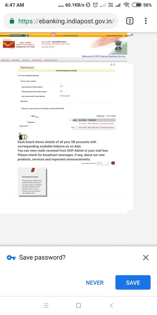 Image result for how to activate internet banking in post office