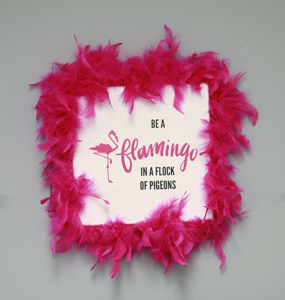 Ben Franklin Crafts and Frame Shop: DIY Pink Flamingo Wall Art