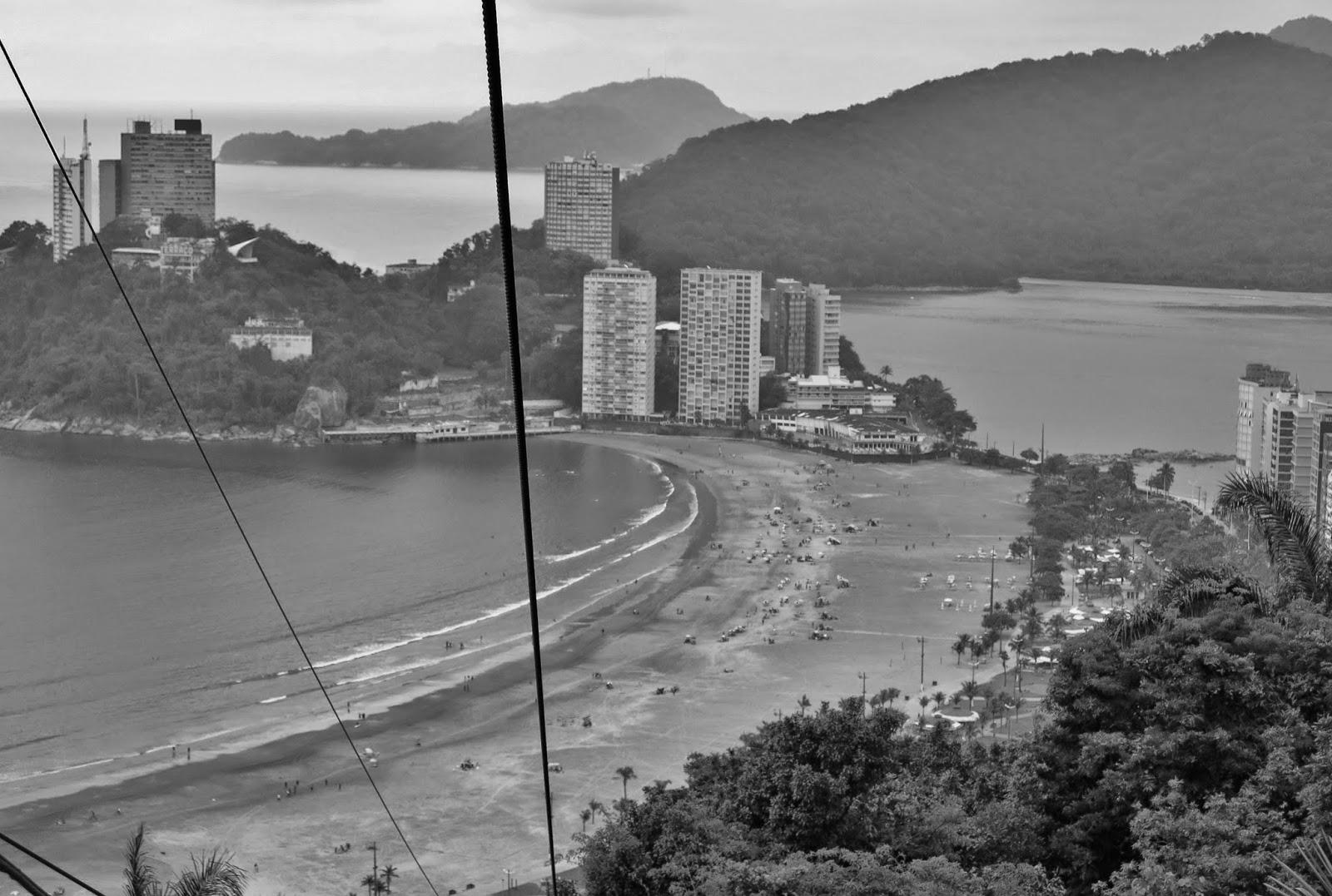 Descendo o teleférico de São Vicente.