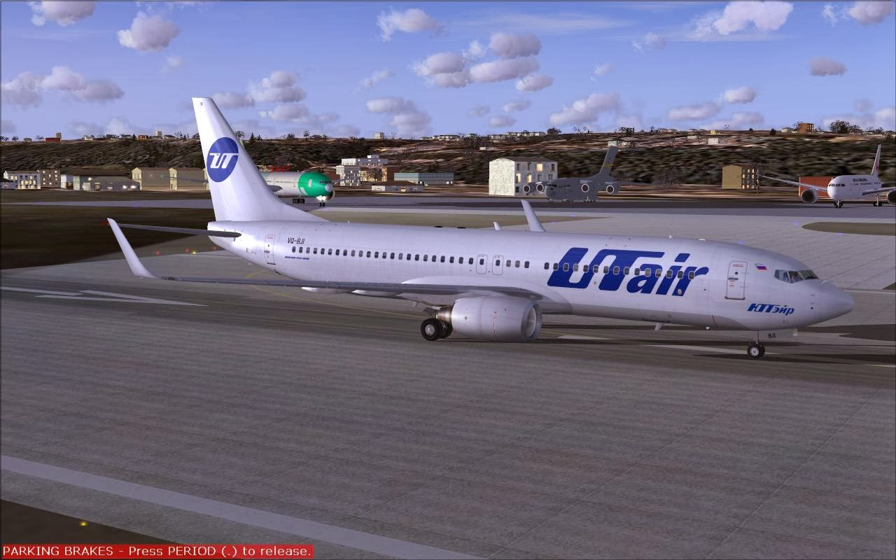 FS2004 REPAINTS: TDS 737-800W UTAir Aviation VQ-BJI (UPDATED)