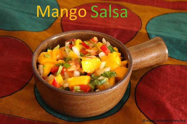 images of Mango Salsa / Fresh Mango Salsa / Easy Mango Salsa Recipe