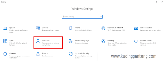 Cara Membuat User Account di Windows 10