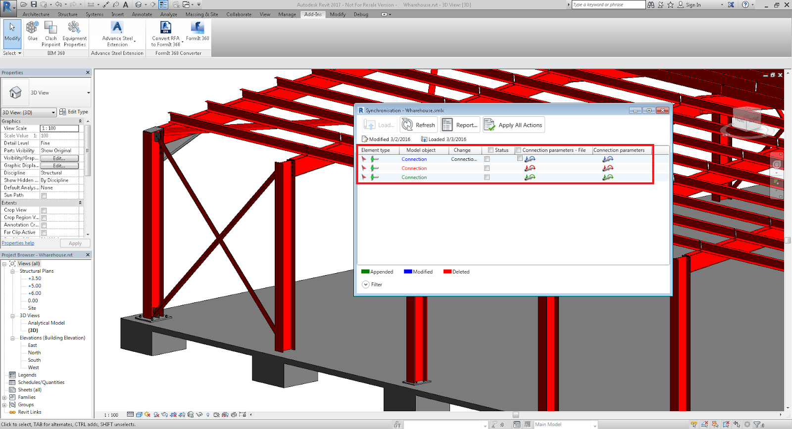 Structural Steel Connections Dwg : Revit add ons free advance steel extension