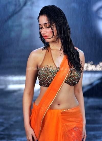 Tamanna hot in sexy wet saree
