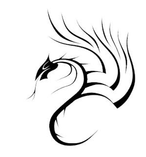 TATTOOS: Dragon Tattoo Stencils # 1
