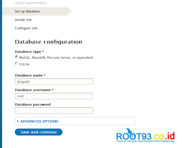 konfigurasi akses ke database