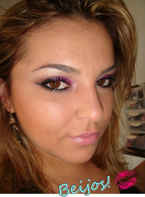 Maquiagem cor de rosa