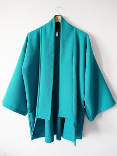ékicé créatrice manteau turquoise vetements paris paris14 couture tissus japonais japonisant artisan couleur vetements colorés fait main mode responsable imadeyourclothes marque francaise artisane createur