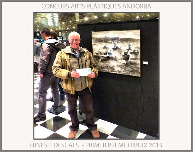 PREMIS-CONCURS-ANDORRA-ARTS PLÁSTIQUES-PRIMER-PREMI-DIBUIX-2015-ARTISTA-PINTOR-ERNEST DESCALS-