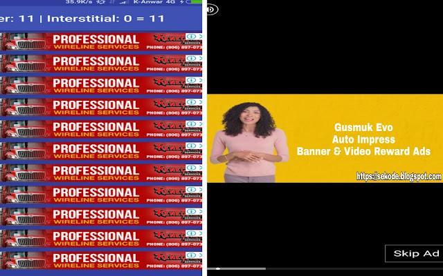 Gusmuk Evo, Auto Impress Banner Dan Video Reward