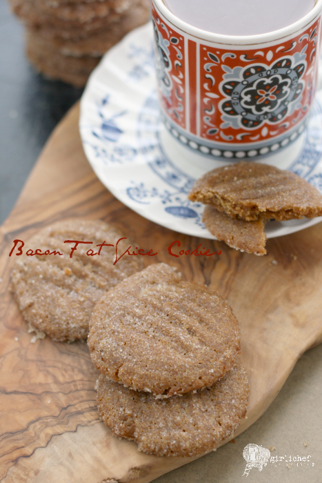 Bacon Fat Spice Cookies