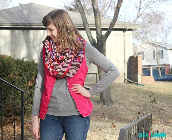 mixing red and pink - outfit idea | www.shealennon.com