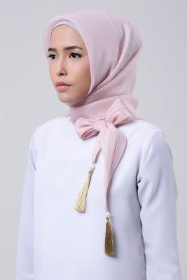tutorial hijab organza untuk pesta