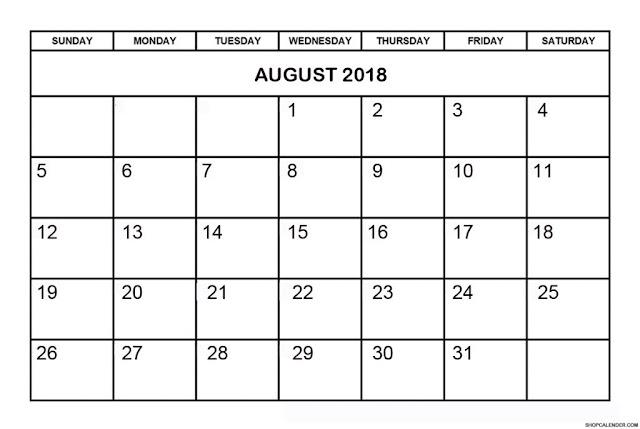 August 2018 Printable Calendar, August 2018 Calendar Printable, August 2018 Calendar Template, Calendar August 2018, Printable August 2018 Calendar, August Calendar 2018, 2018 August Calendar