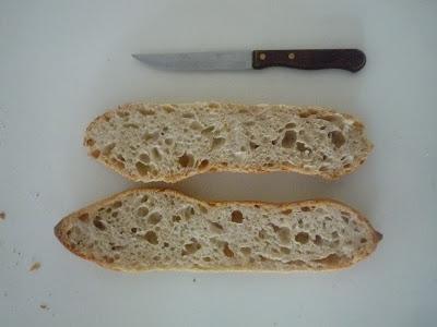 Barritas de pan con masa madre
