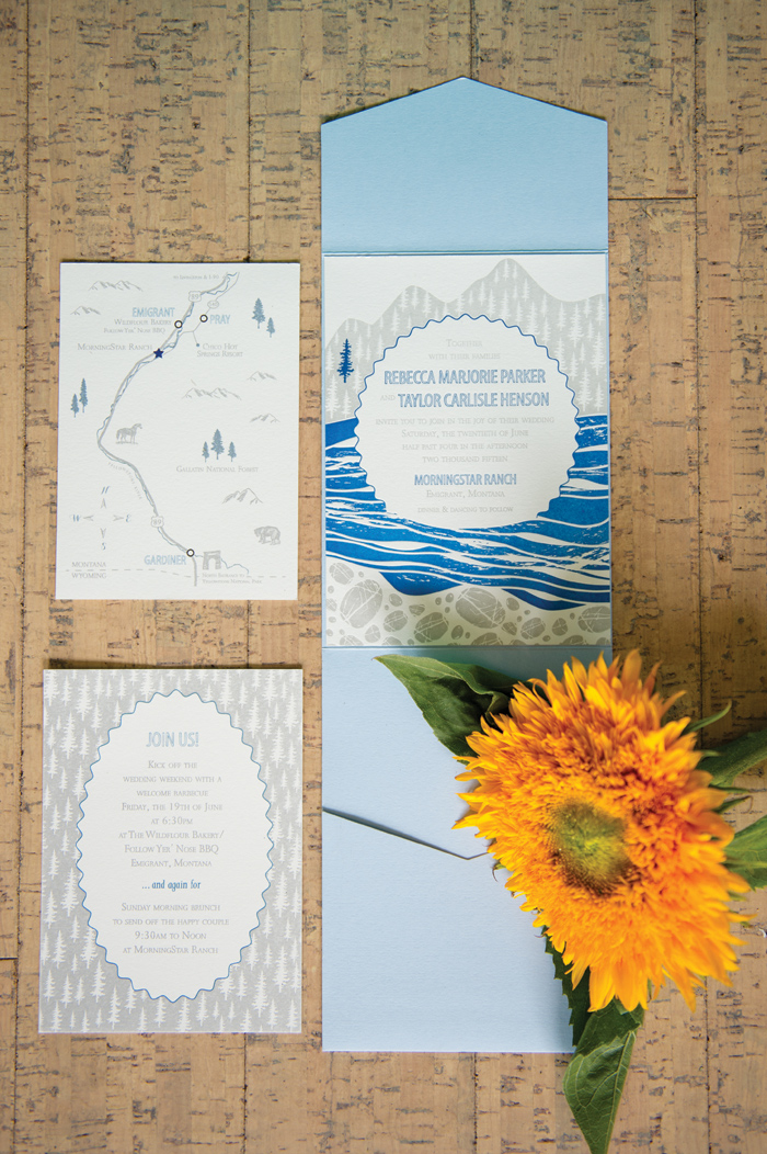 Montana Wedding Invitations by Noteworthy Press / Montanan Wedding / Photography: Amelia Anne Photography / Planning & Flowers: Katalin Green