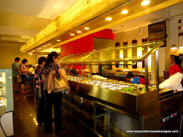 counter at Ocho Seafood and Grill Tacloban