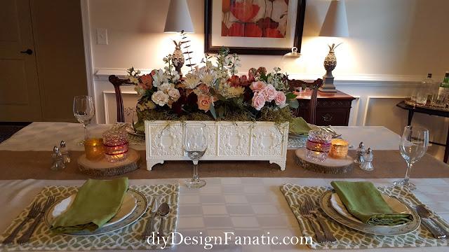 flowers, tablescape, cottage style, farmhouse style, diyDesignFanatic.com
