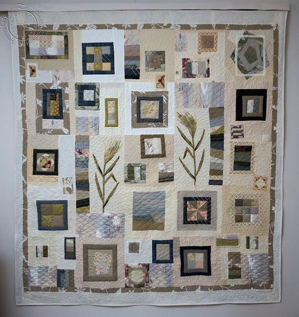 modern quilting, beige patchwork quilt